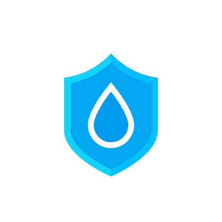waterproof icon, vector symbol