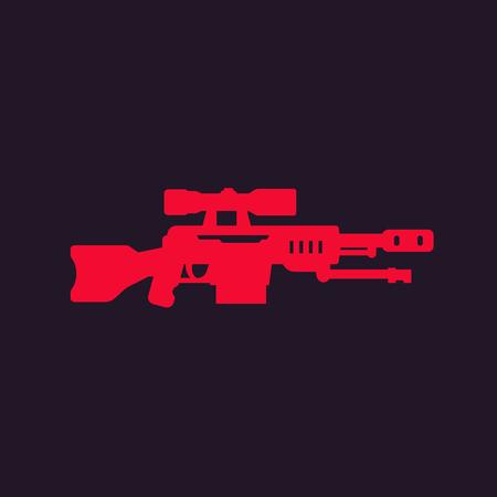 Sniper rifle vector icon