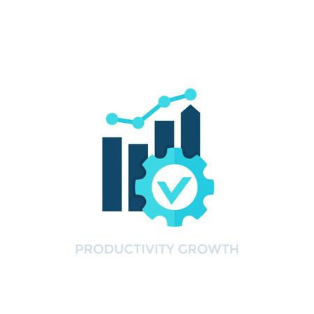 productivity growth vector icon