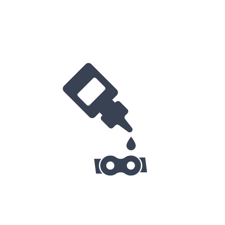 lubricant, oil for bike chain icon Illustration