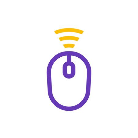 wireless mouse icon on white Ilustração