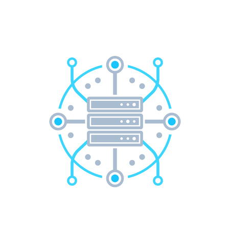 server, hosting, network vector icon