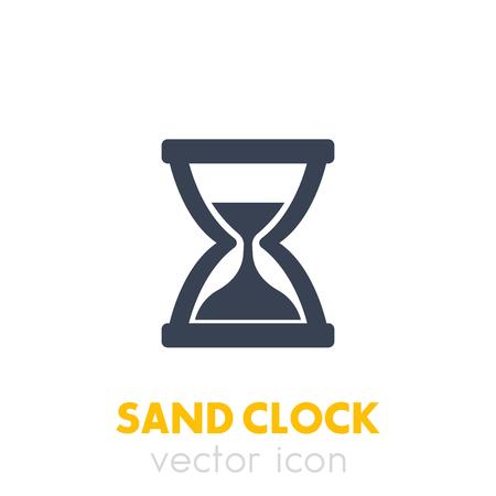 sand clock icon on white  イラスト・ベクター素材