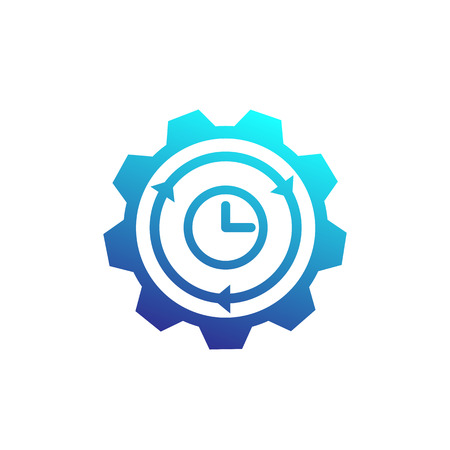 production cycle icon with gear