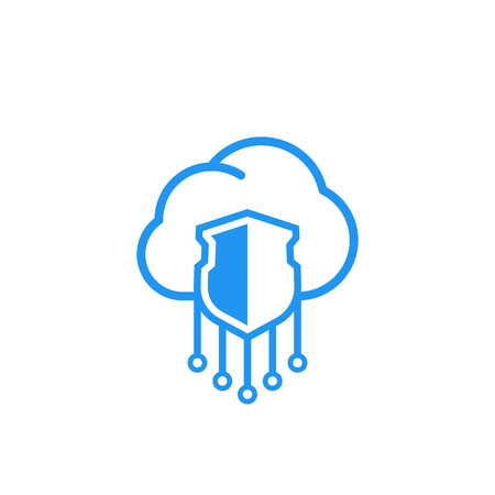 Secure hosting vector icon Illustration