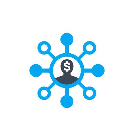 shareholder vector icon on white