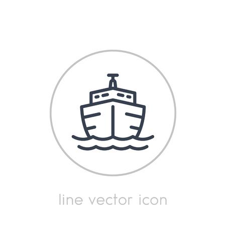 Ship line icon on white Illustration