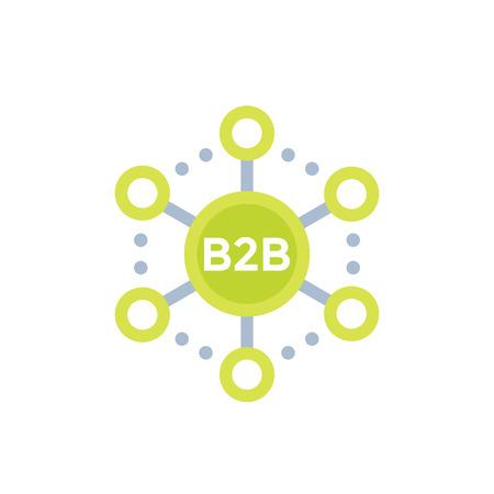 B2B commerce, sales vector icon.