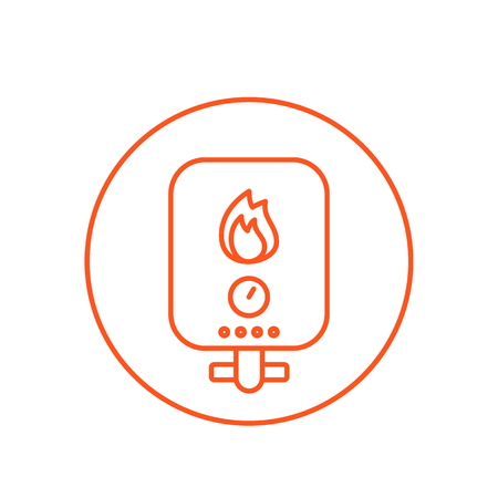 heating system vector line icon