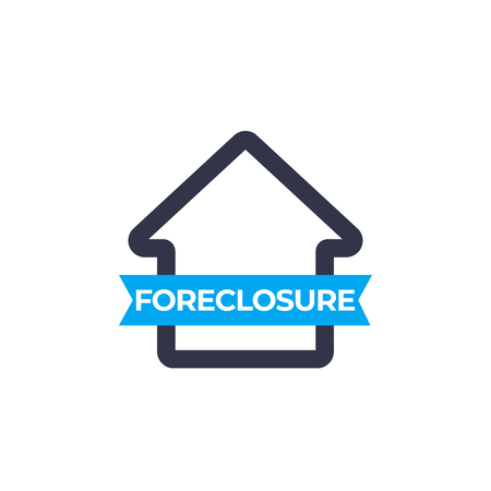 foreclosure icon, vector sign