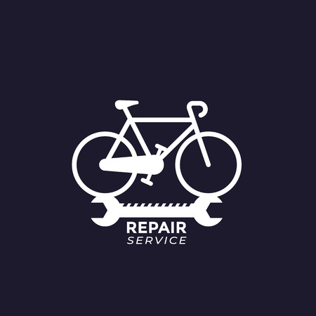bicycle repair service vector logo