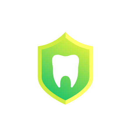 dental insurance vector icon on white