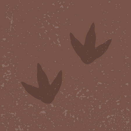 dinosaur footprints on sand vector illustration Archivio Fotografico - 102945414