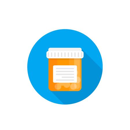 bottle with pills, medicine icon Stock Illustratie