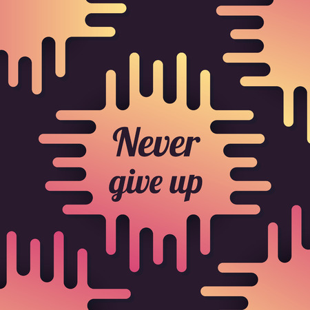 Never give up vector poster
