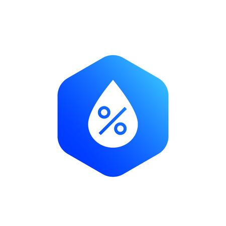 humidity level vector icon