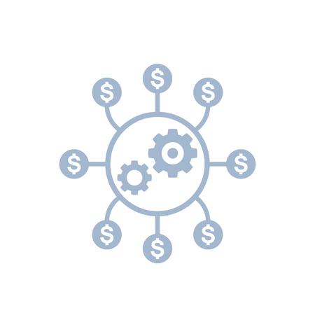 Ottimizzazione dei costi, icona di efficienza produttiva Archivio Fotografico - 102945424