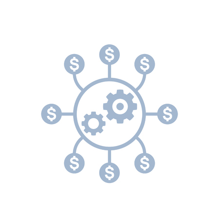 costs optimization, production efficiency icon