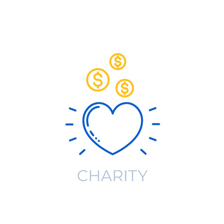 Charity linear icon Illustration
