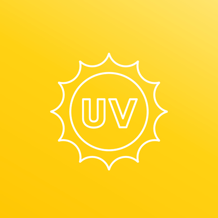 UV radiation, ultraviolet vector line icon Foto de archivo - 102960441
