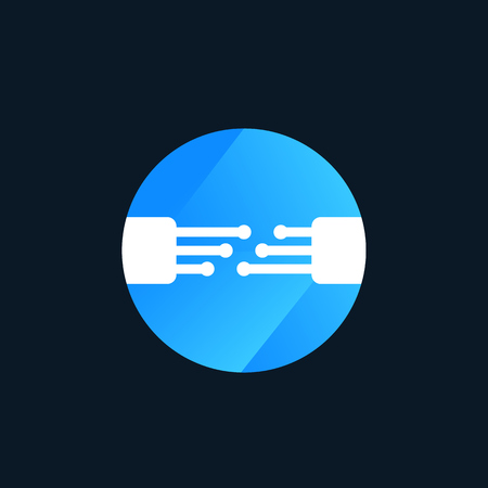 optic fiber vector logo design