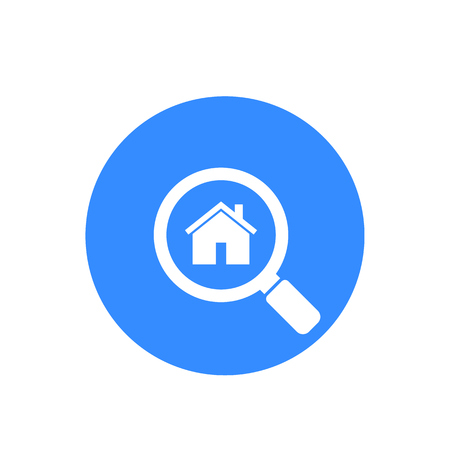 house, apartment search vector icon