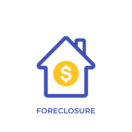 foreclosure icon, house for sale Illustration