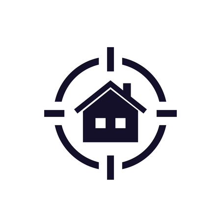 house search icon, real estate concept Illustration