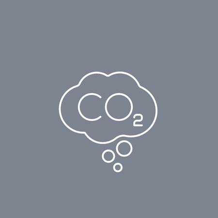co2, carbon emissions vector linear icon