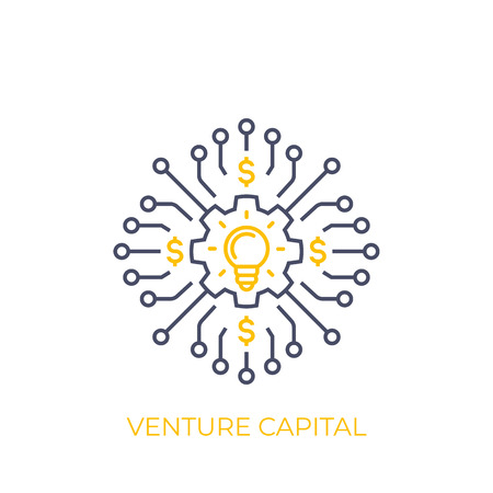 venture capital vector line art