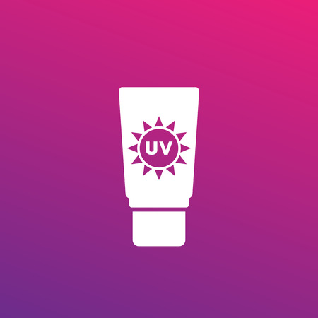 sunscreen, sunblock lotion icon