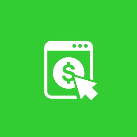 pay per click vector icon