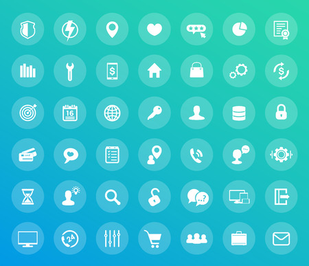 42 icons set, for web design, apps and infographics