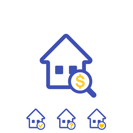 house search vector icons Illustration