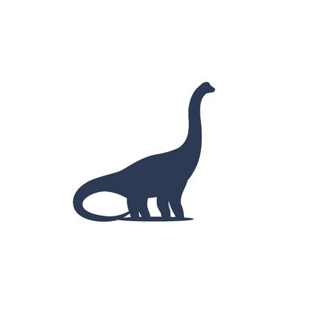 dinosaur, sauropod vector icon Illustration
