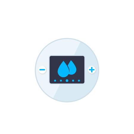 humidity control sytem vector illustration