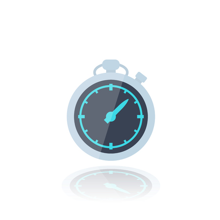 chronometer icon on white