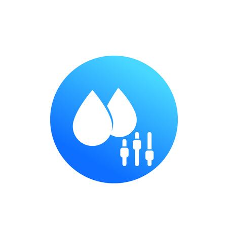 humidity control round icon on white Illustration