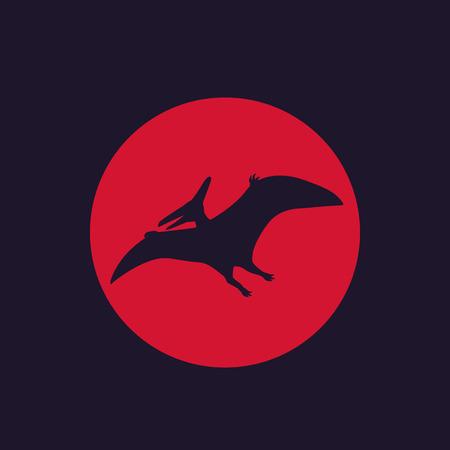 dinosaur, pterodactyl, pteranodon icon Illustration