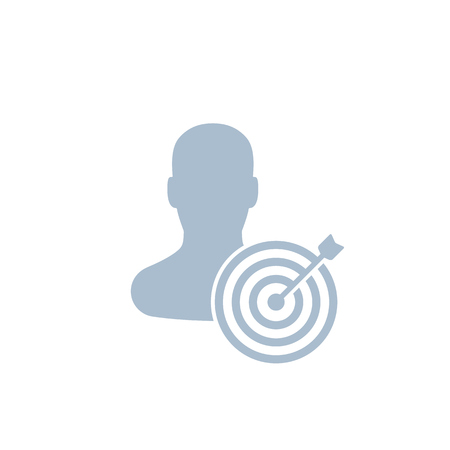 target audience icon, marketing concept