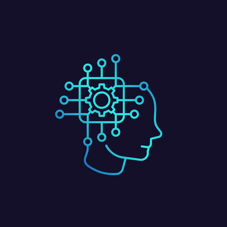 Machine learning, artificial neural network, AI icon