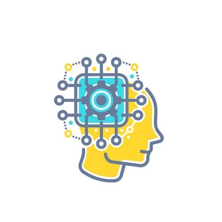 Machine learning, artificial neural network Illustration