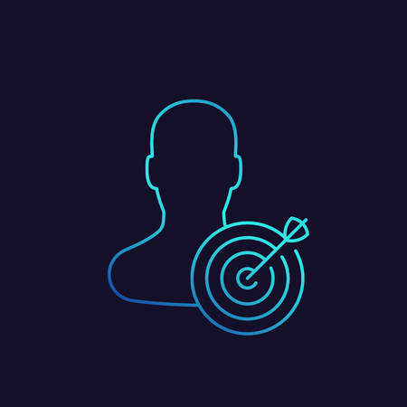 target audience, marketing concept Illustration