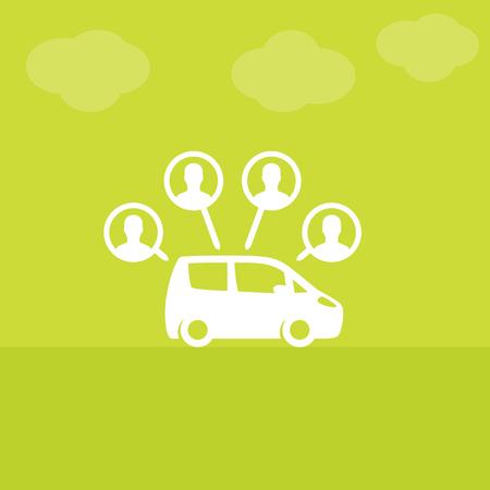 carsharing service vector illustration