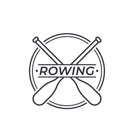 Logo vectoriel d'aviron avec des rames