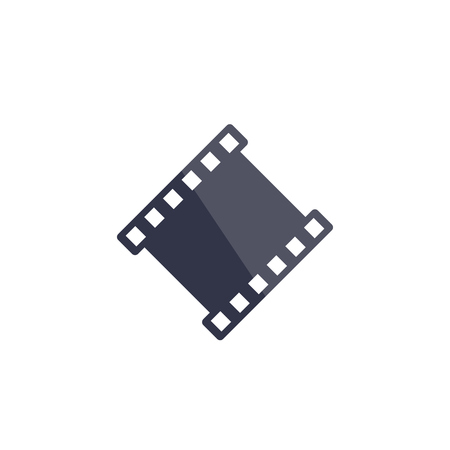film strip vector icon on white