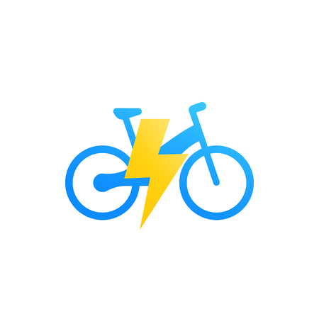 Electric bicycle, e-bike vector