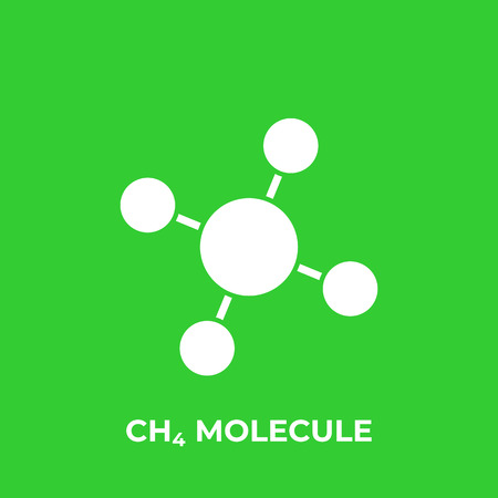 methane molecule, CH4 vector icon Illustration