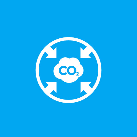 co2, reducing carbon emissions icon