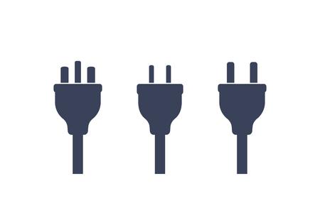 enchufes eléctricos en blanco, vector Ilustración de vector
